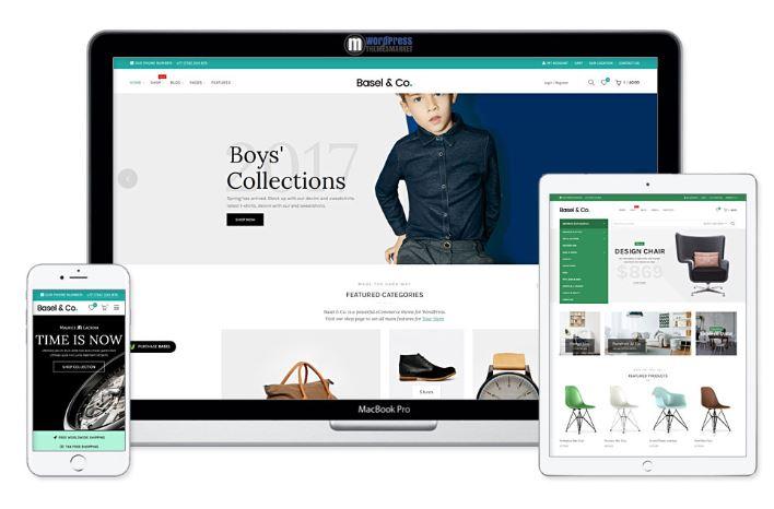 Theme WordPress Basel với công nghệ AJAX giúp tối ưu website.