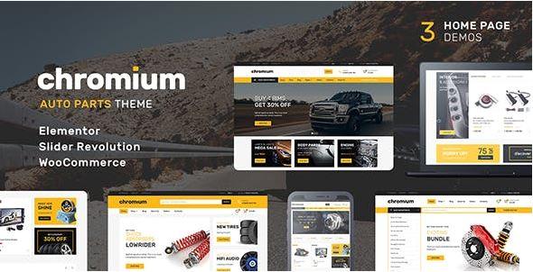 Chromium là theme WordPress được tích hợp sẵn nhiều tính năng cao cấp.