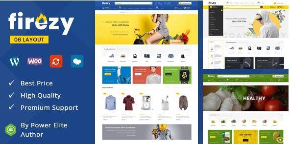 Firezy với thiệu kế dựa trên plugin Woocommerce, phù hợp với những trang bán hàng thời trang.