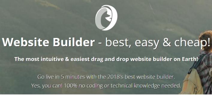 Sử dụng website Builder.