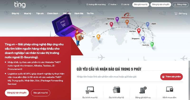 website đặt hàng trung quốc Ting.vn