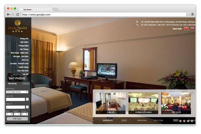 Giao diện, thẩm mỹ là yếu tố quan trọng của một website khách sạn