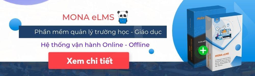 Phần mềm quản lý trường học Mona eLMS