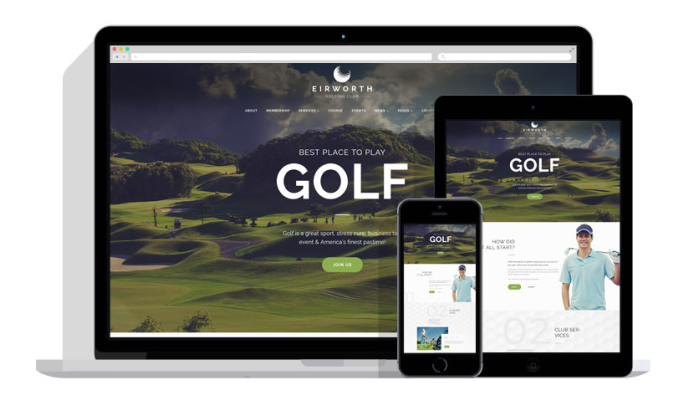 Giao diện cho website ngành golf – Eirworth