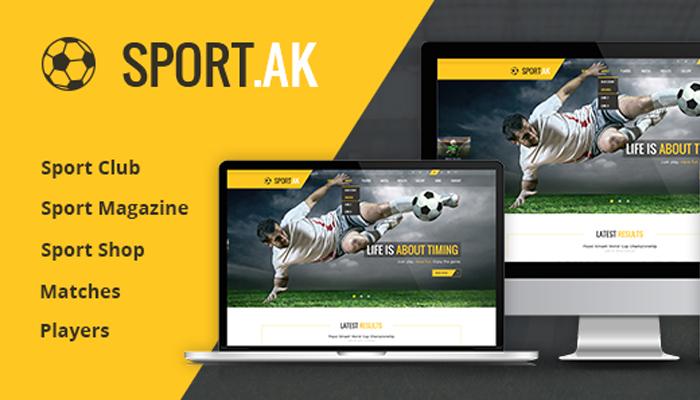 Theme thể thao cho web WordPress - SportAK