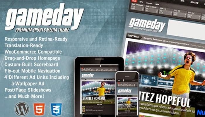 Theme WordPress tin tức thể thao - Gameday